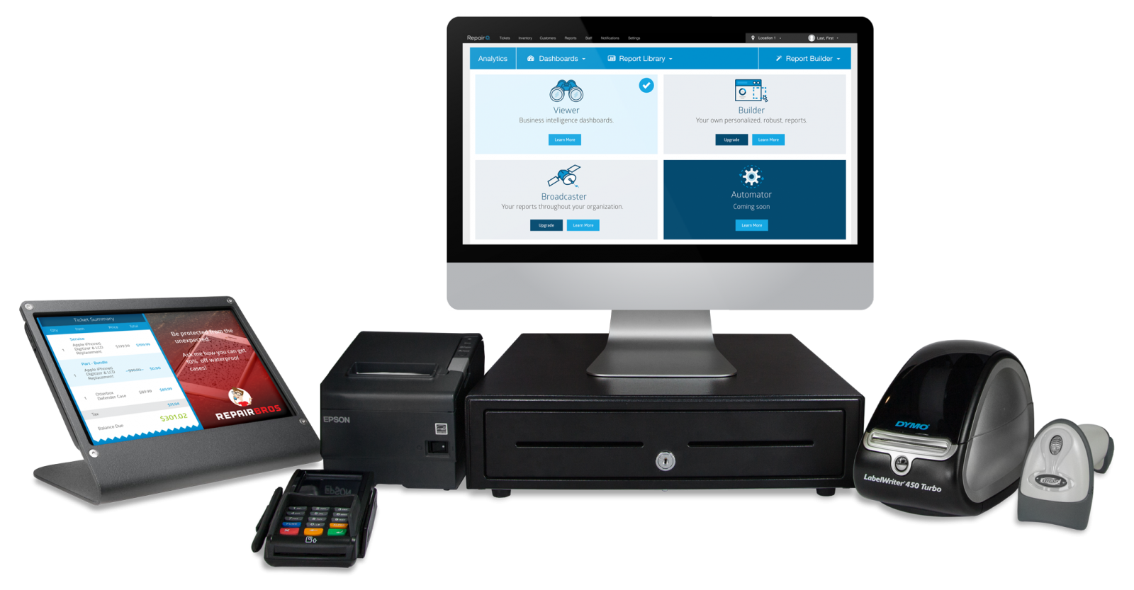Hardware setup RepairQ Retail Management Software - POS and Inventory Management