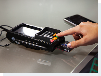 customer using Bluefin payment system