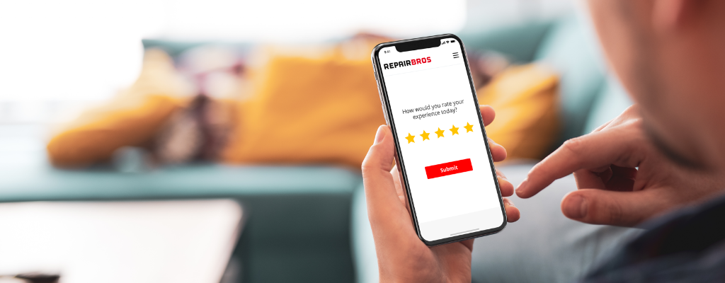 Man rates repair shop with 5 stars for an overall great customer experience.