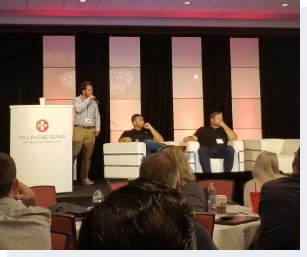James Schellhorn, RepairQ co-owner, giving a speech at the cell phone repairconference