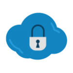 Icon of a lock to represent security