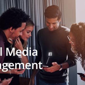Employees managing social media using the Rallio app