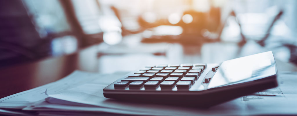 Calculator used for preparing refunds during tax season