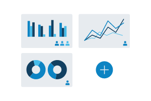 Illustration of graphs for business reporting